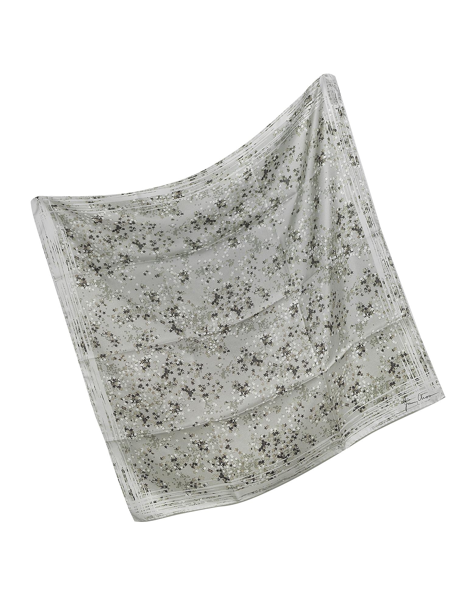 Stars Printed Silk Square Scarf от Forzieri.com INT