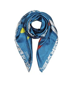Shoes and Signature Printed Silk Square Scarf - Jimmy Choo