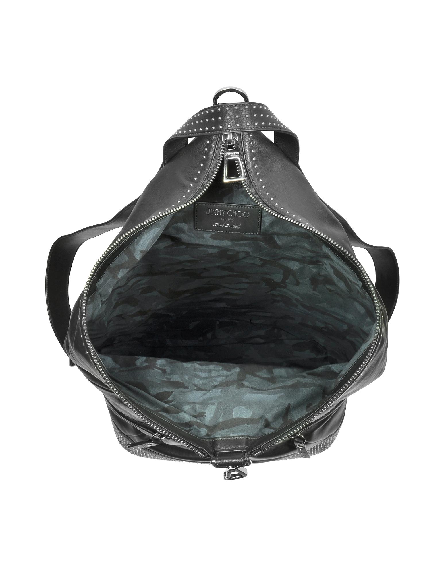 Fitzroy Black Satin Leather Backpack w/Mini Studs от Forzieri.com INT