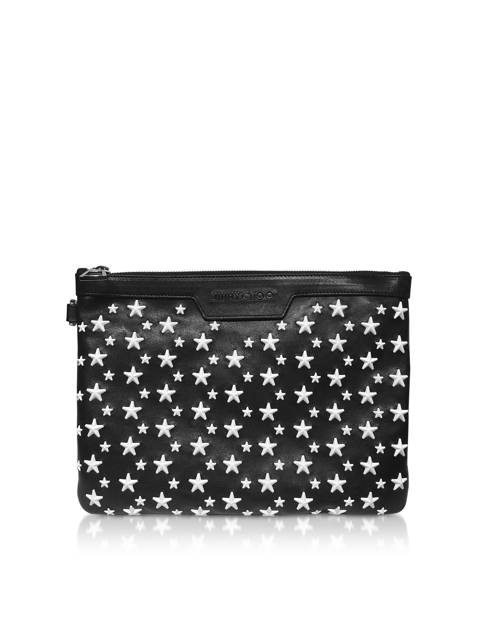 Black&White DEREK/S Small Clutch w/Stars