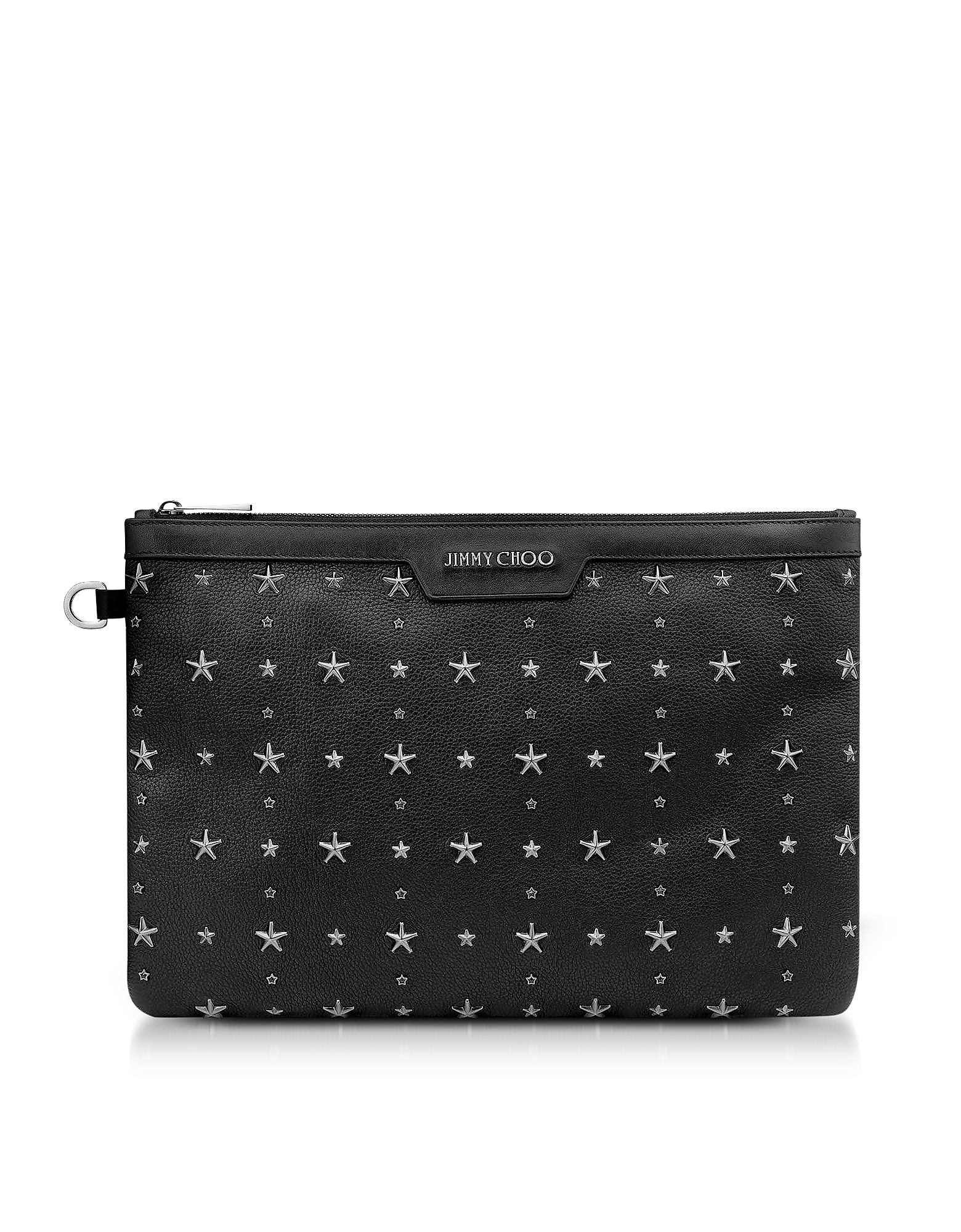 Jimmy Choo Handbags, Black Grainy Leather Derek Clutch