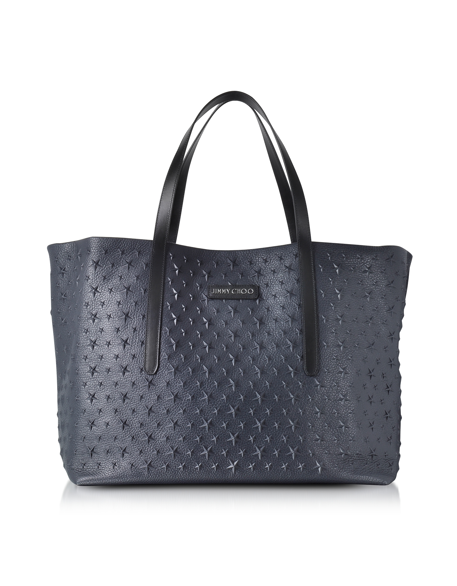 Jimmy Choo Handbags, Navy Blue Stars Embossed Large Tote Bag