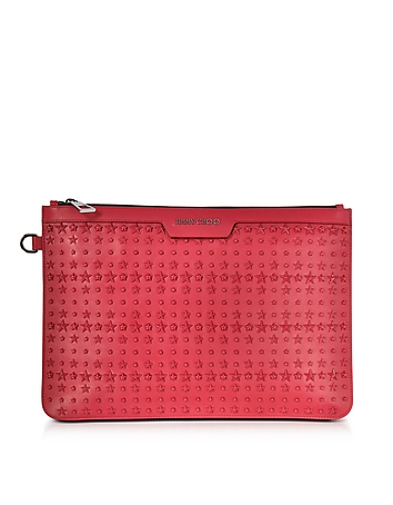 Jimmy Choo - Derek Leather Clutch w/Stars