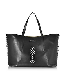Plimco Rock Black Leather Tote Bag with Punk Studs - Jimmy Choo