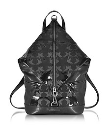 Fitzroy Black Graphic Star Print Canvas Backpack - Jimmy Choo
