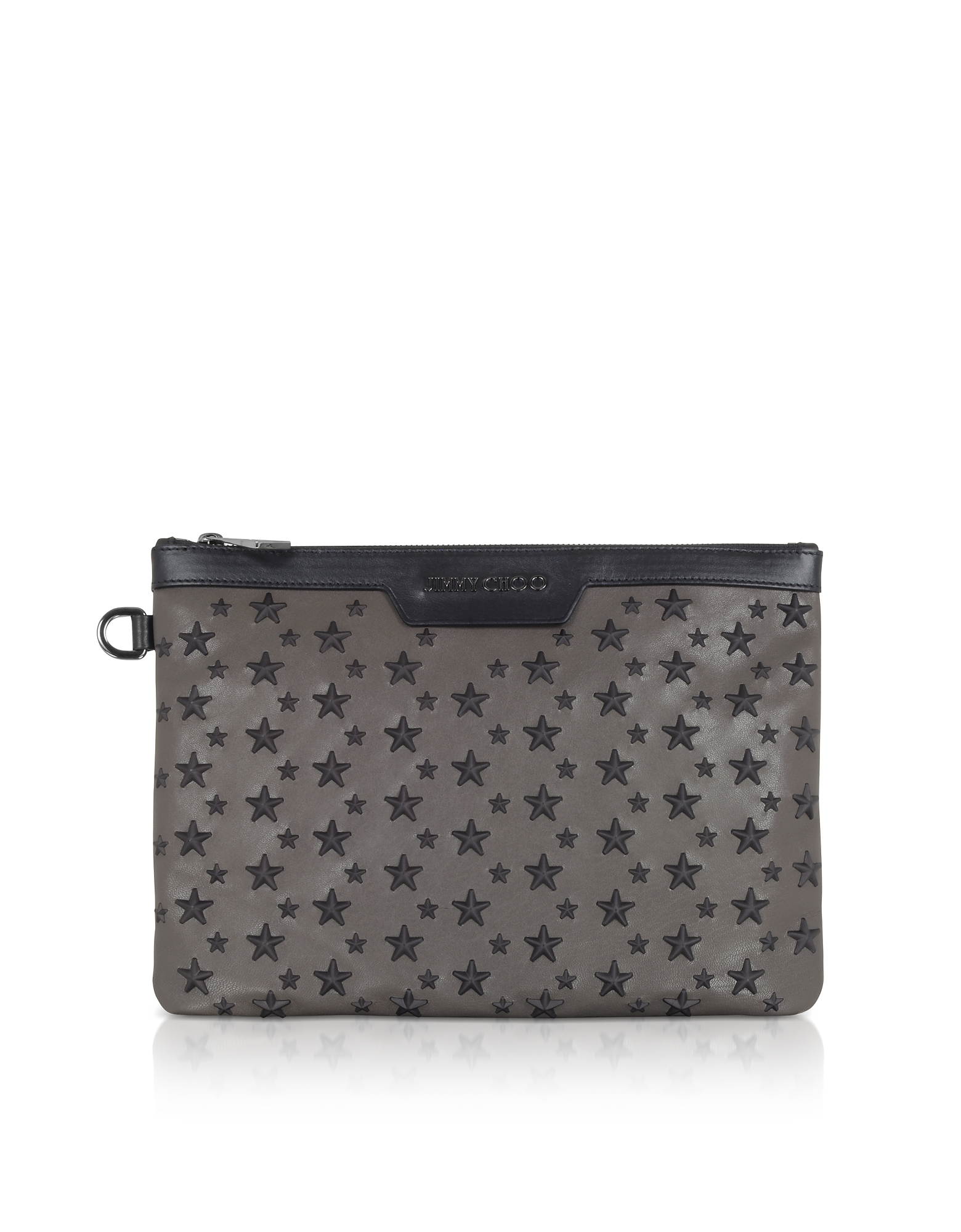 Jimmy Choo Handbags, Smoke/Black Derek/S Small Clutch w/Stars