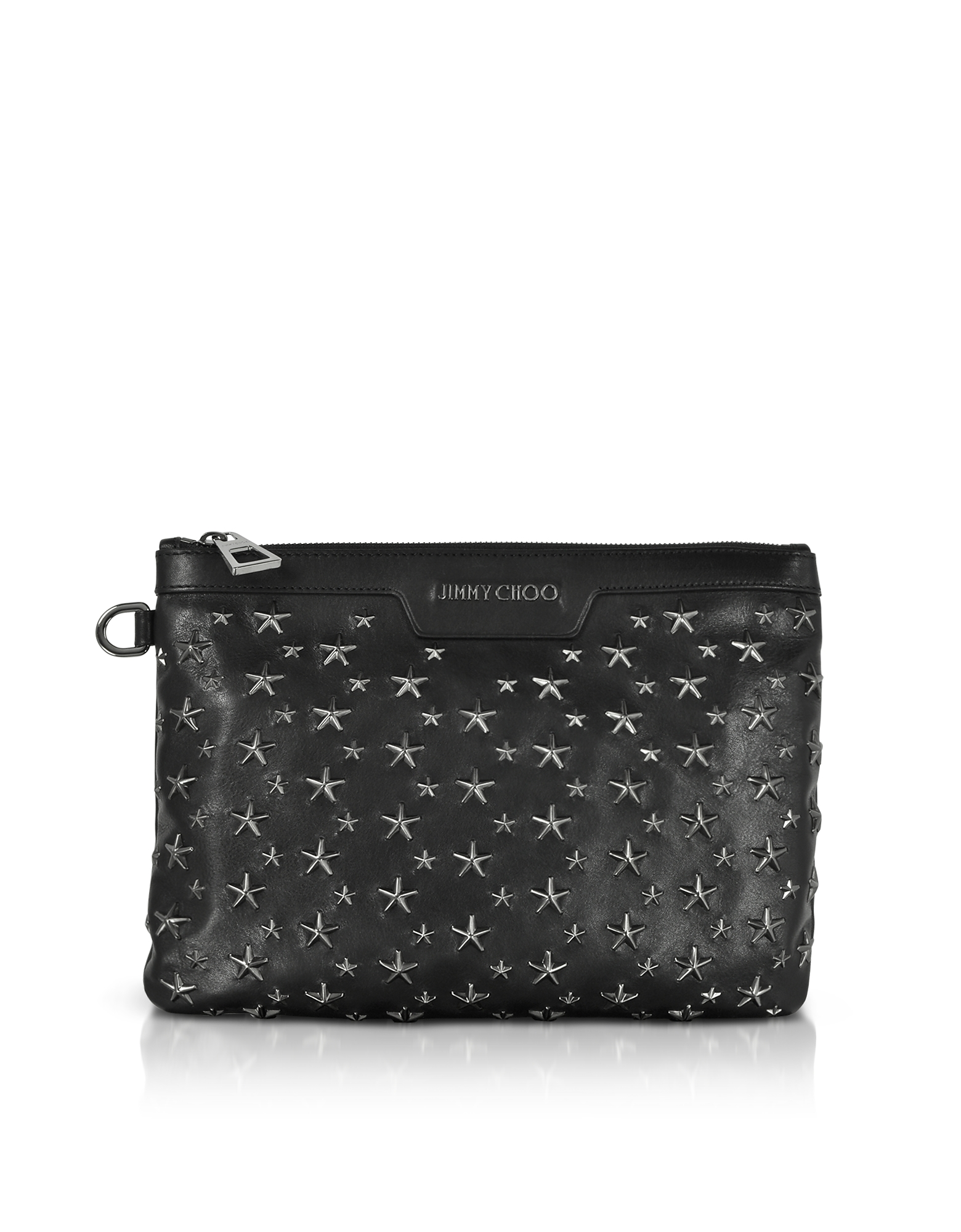 BLACK/GUNMETAL DEREK/S SMALL CLUTCH W/STARS