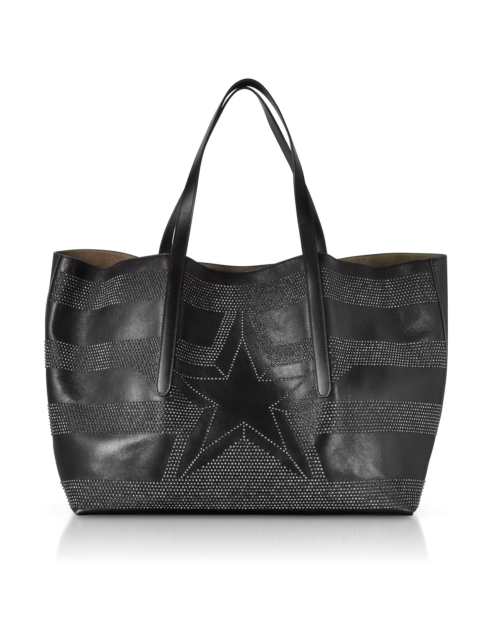 Jimmy Choo Handbags, Pimlico Tao Large Black Leather Tote