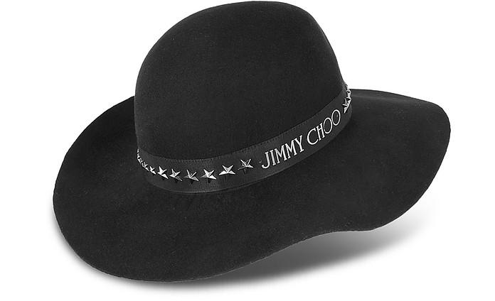 Star Studded Black Floppy Hat - Jimmy Choo