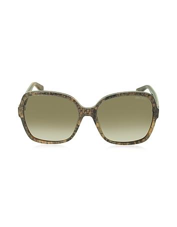 Jimmy Choo - LORI/S 6UJDB Oversize Python Print Acetate Women's Sunglasses