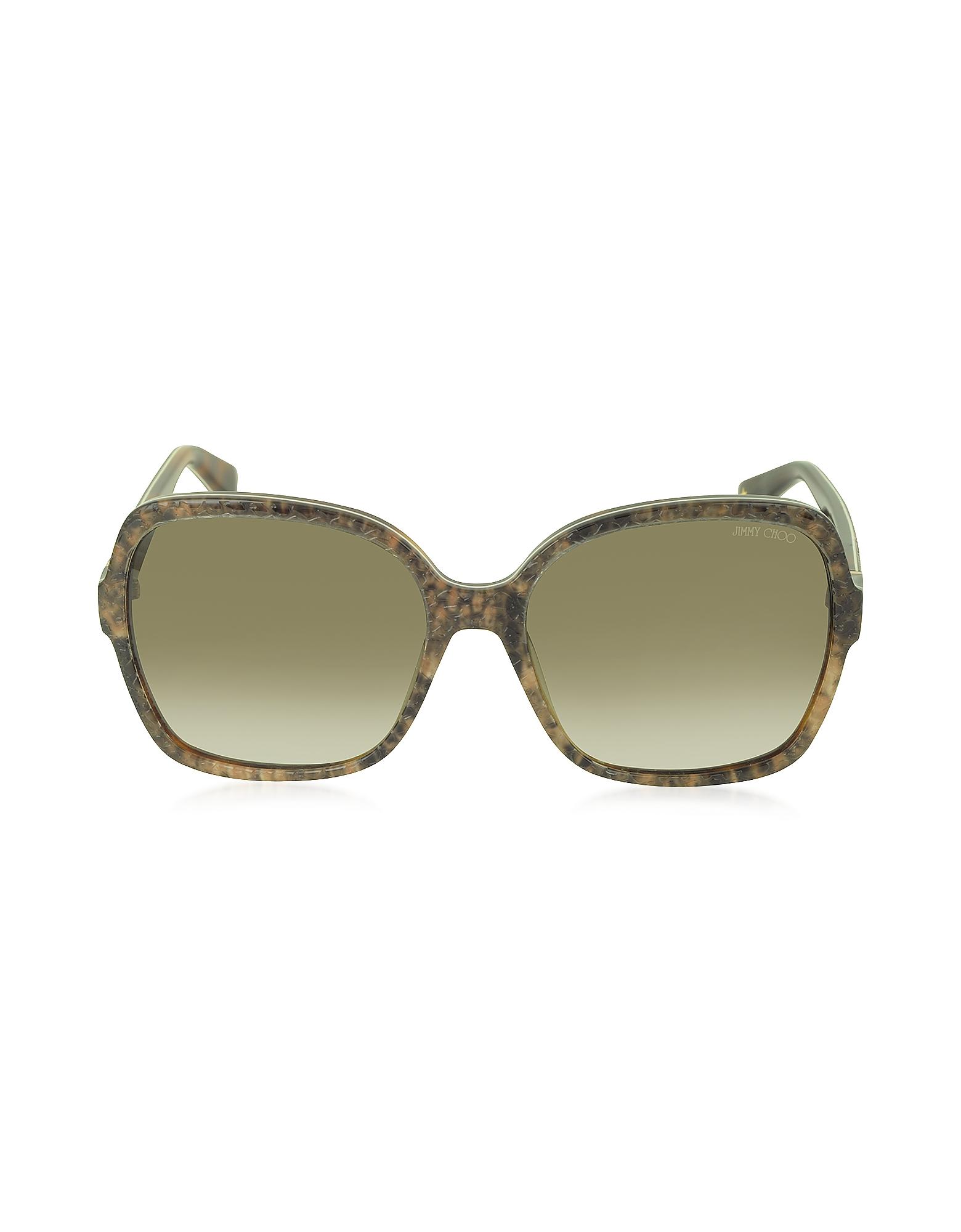 Jimmy Choo Sunglasses, LORI/S 6UJDB Oversize Python Print Acetate Women's Sunglasses