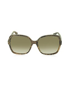 LORI/S 6UJDB Oversize Python Print Acetate Women's Sunglasses - Jimmy Choo