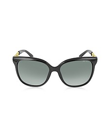 BELLA/S BMBHD Black Acetate Frame Women's Sunglasses - Jimmy Choo