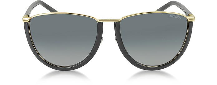 MILA/S WL4HD Gold and Black Women's Sunglasses - Jimmy Choo