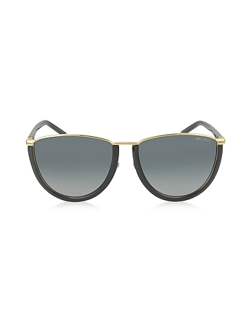 MILA / S WL4HD Gold and Black Women's Sunglasses