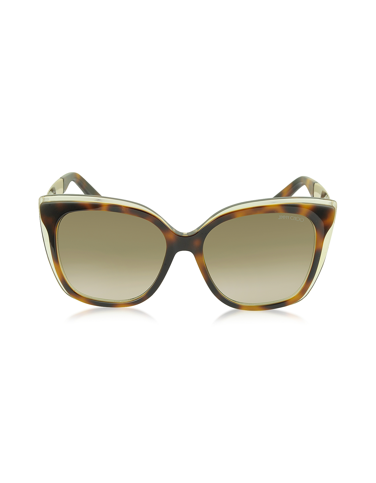 Jimmy Choo Designer Sunglasses, OCTAVIA / S 19WJD Havana Brown Acetate Cat Eye Sunglasses