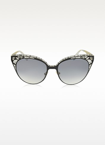 ESTELLE/S ENYLF Black Metal Lace Cat Eye Sunglasses - Jimmy Choo / ジミー チュウ