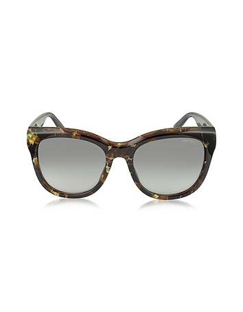 NURIA / S W036P Dark Brown Acetate Cat Eye Sunglasse