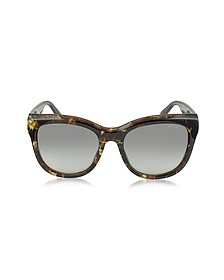 NURIA/S W036P Dark Brown Acetate Cat Eye Sunglasse - Jimmy Choo