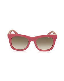SASHA/S 8V0K8 Fuchsia Acetate Square Frame Sunglasses with Silver Stars - Jimmy Choo