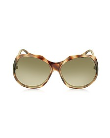 ELY/S 8VMS1 Brown Oversized Frame Sunglasses - Jimmy Choo