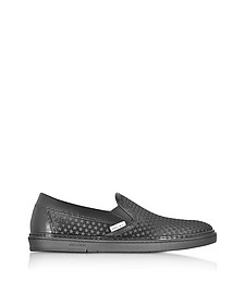 Sneakers Grove Slip On en Satén Negro y Estrellas de Goma - Jimmy Choo