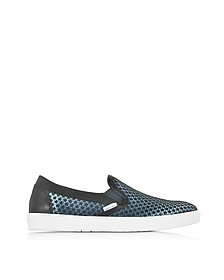 Grove Avion Satin Men's Slip on Sneakers w/Mini Rubber Star - Jimmy Choo