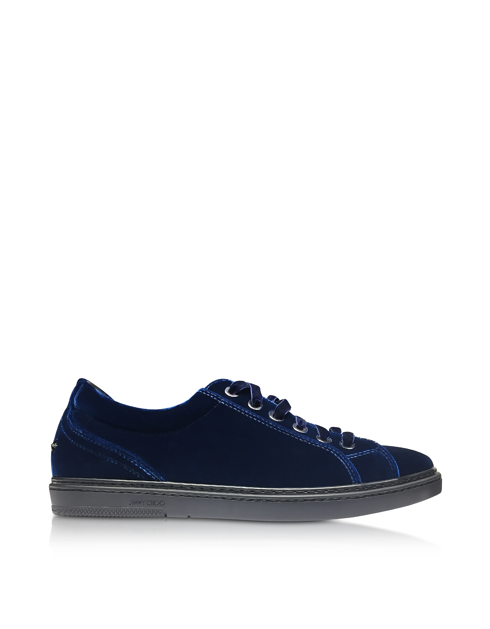 Cash Sneakers in Velluto Blu Navy
