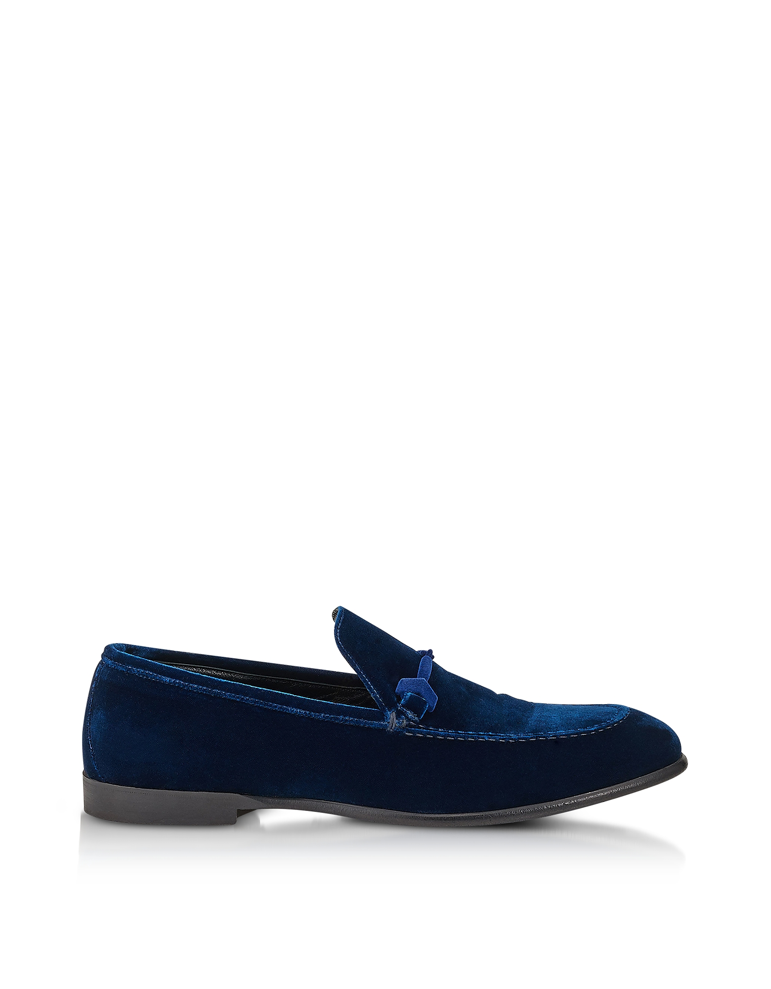 Jimmy Choo Shoes, Marti Navy Blue Velvet Loafer