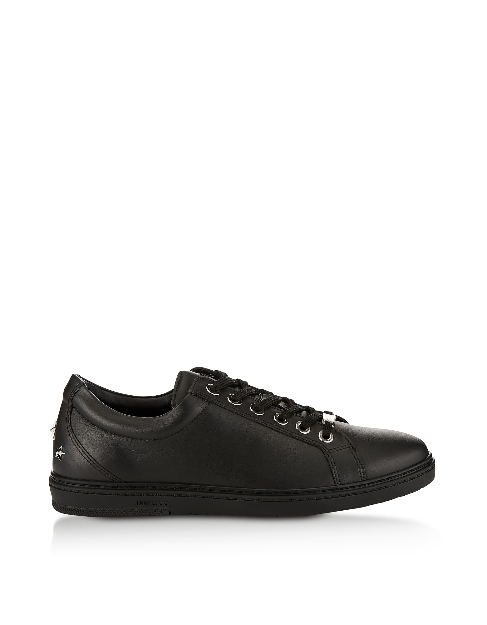 Black Leather CASH Low Top Trainers