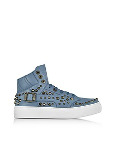 Ruben Jean Leather High Top Sneaker w/Studs - Jimmy Choo
