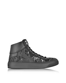 Argyle Camo Fabric Mix High Top Sneaker - Jimmy Choo
