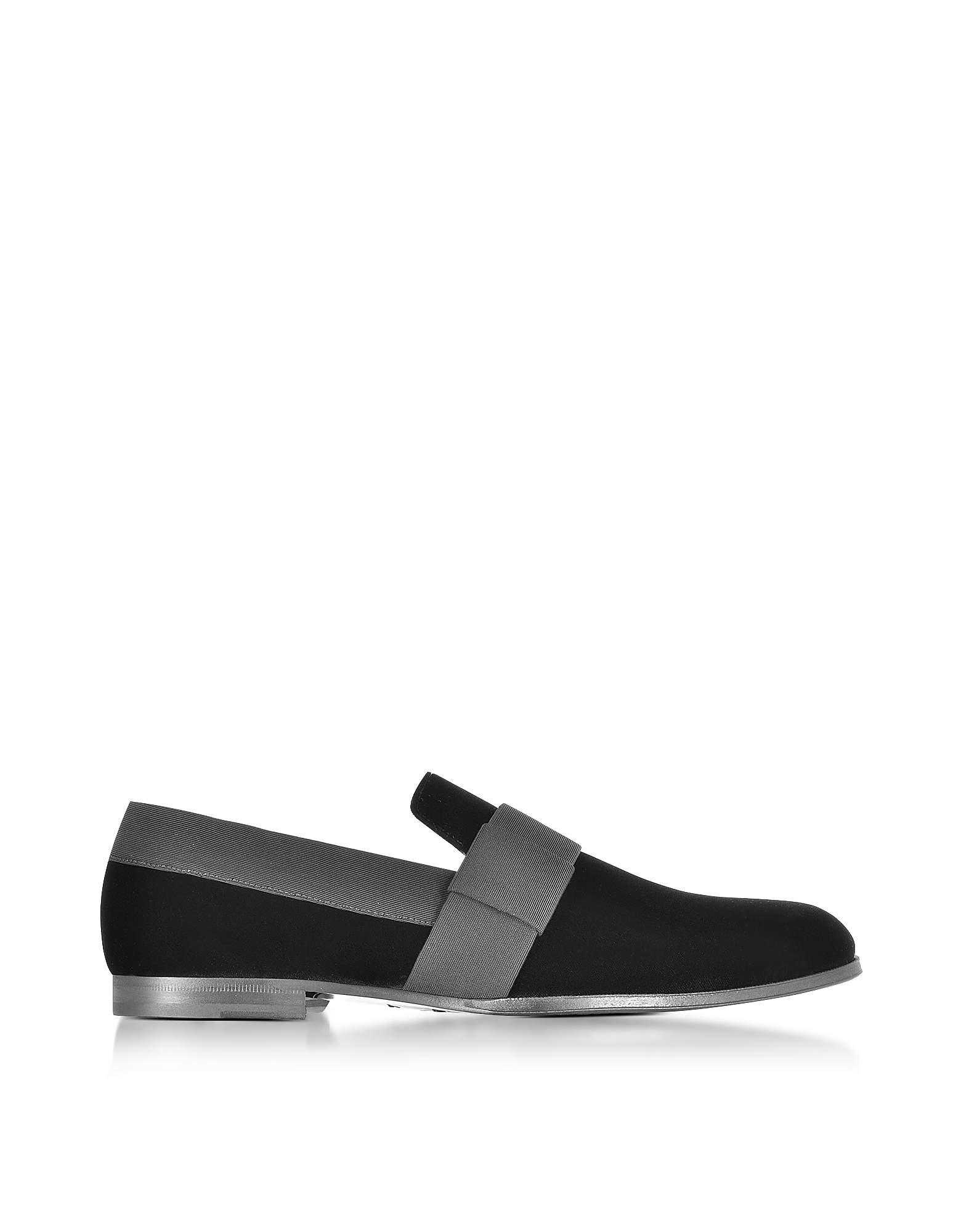 Jimmy Choo Shoes, John Black Velvet and Grosgrain Slipper Shoes