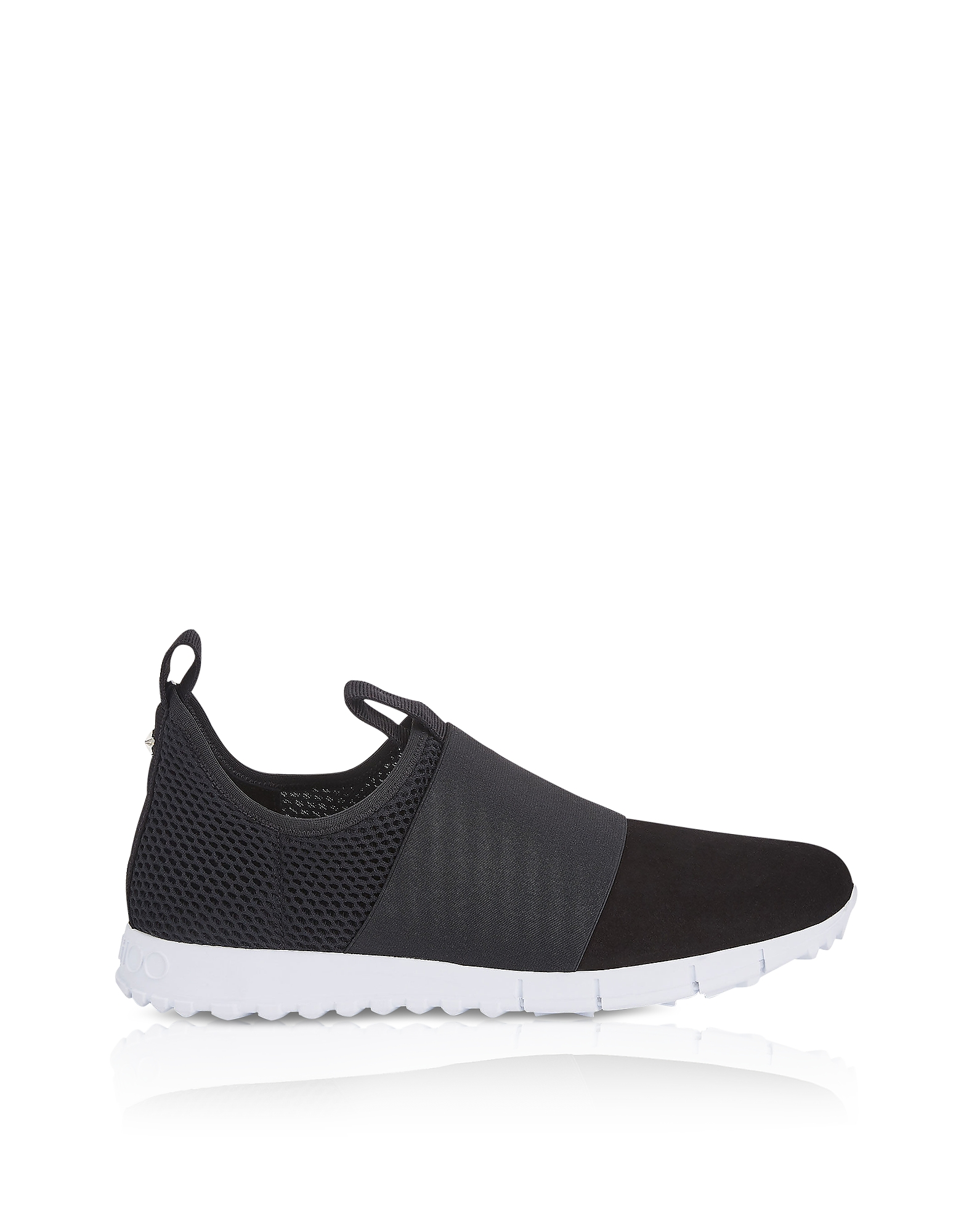OAKLAND/M BLACK MESH AND SUEDE SLIP ON TRAINERS from FORZIERI