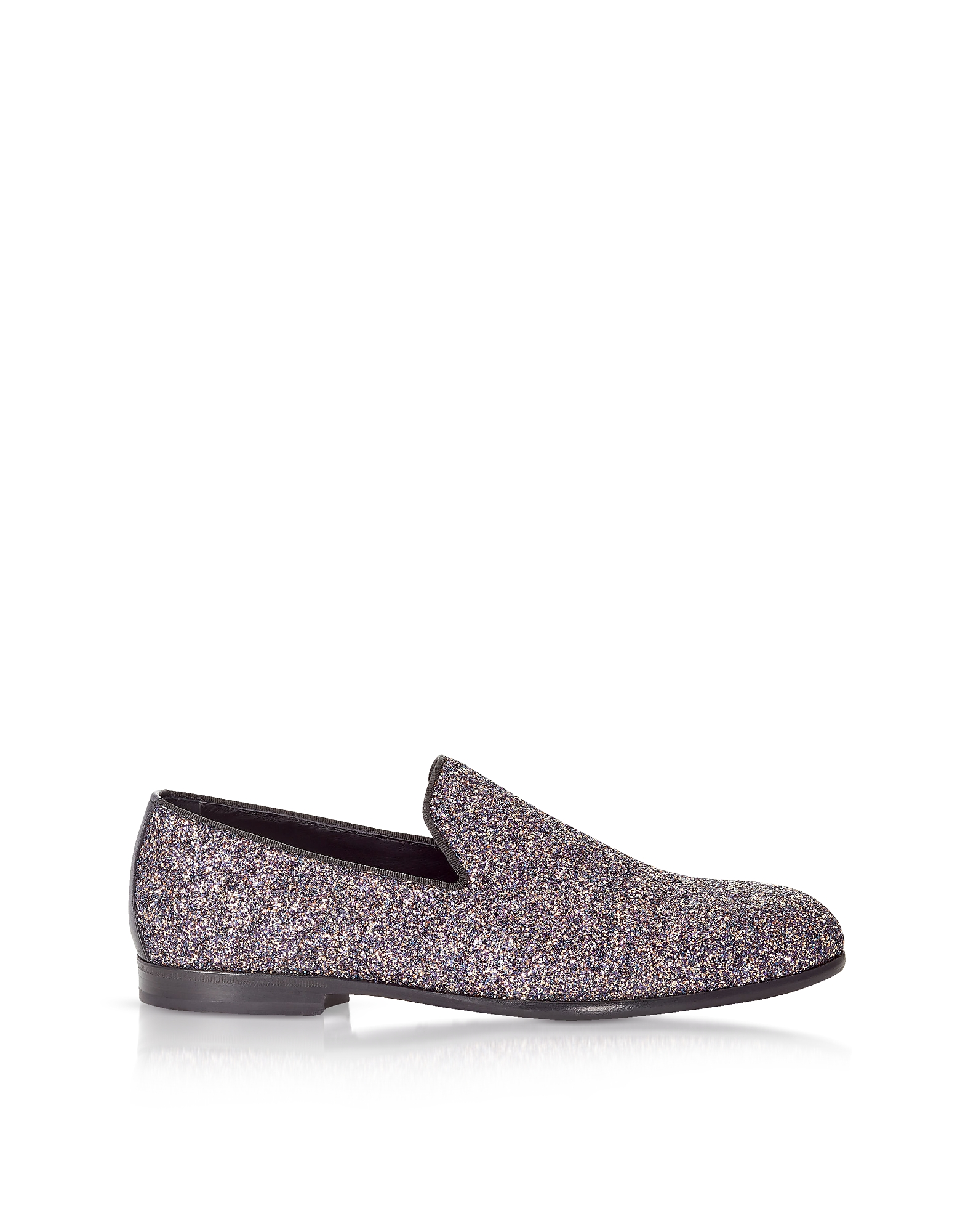 Jimmy chooDesigner Shoes, Marlo Twilight Glitzy Glitter Fabric Slippers