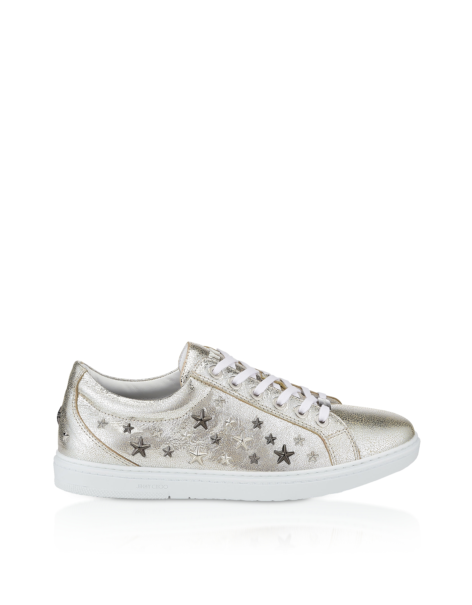Cash GTA Sneakers in Pelle Champagne con Glitter e Borchie