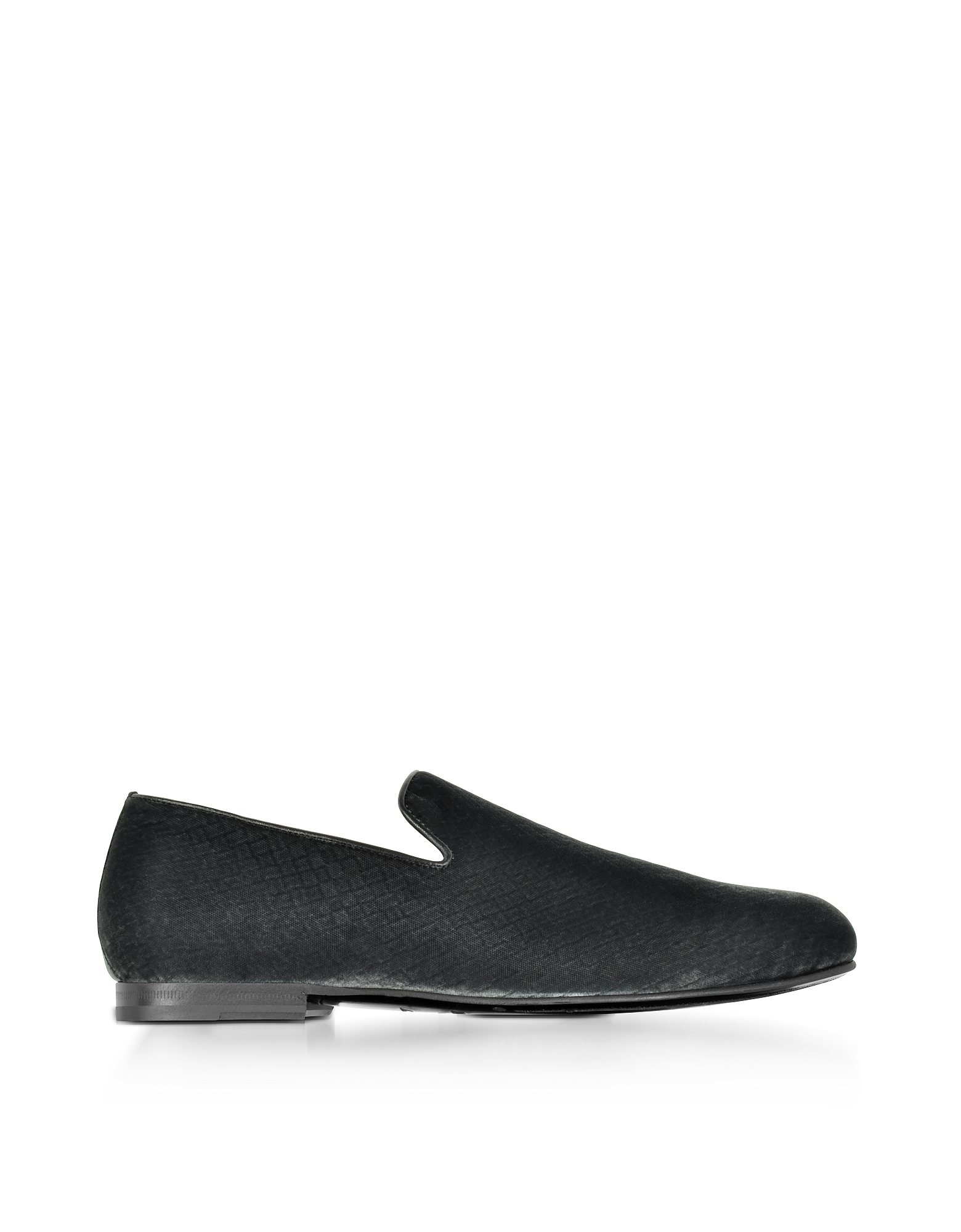 Jimmy Choo Shoes, Sloane Dust Gray Embossed Velvet Loafer
