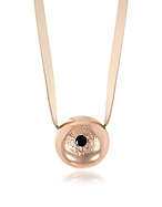 Bjorg The Grand Illusion Big Eyeball Collana in Pelle con Charm in Bronzo Placcato Oro Rosa - bjorg - it.forzieri.com