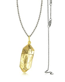 Magic Hour - Rock Box Golden Charm Necklace - Bjorg