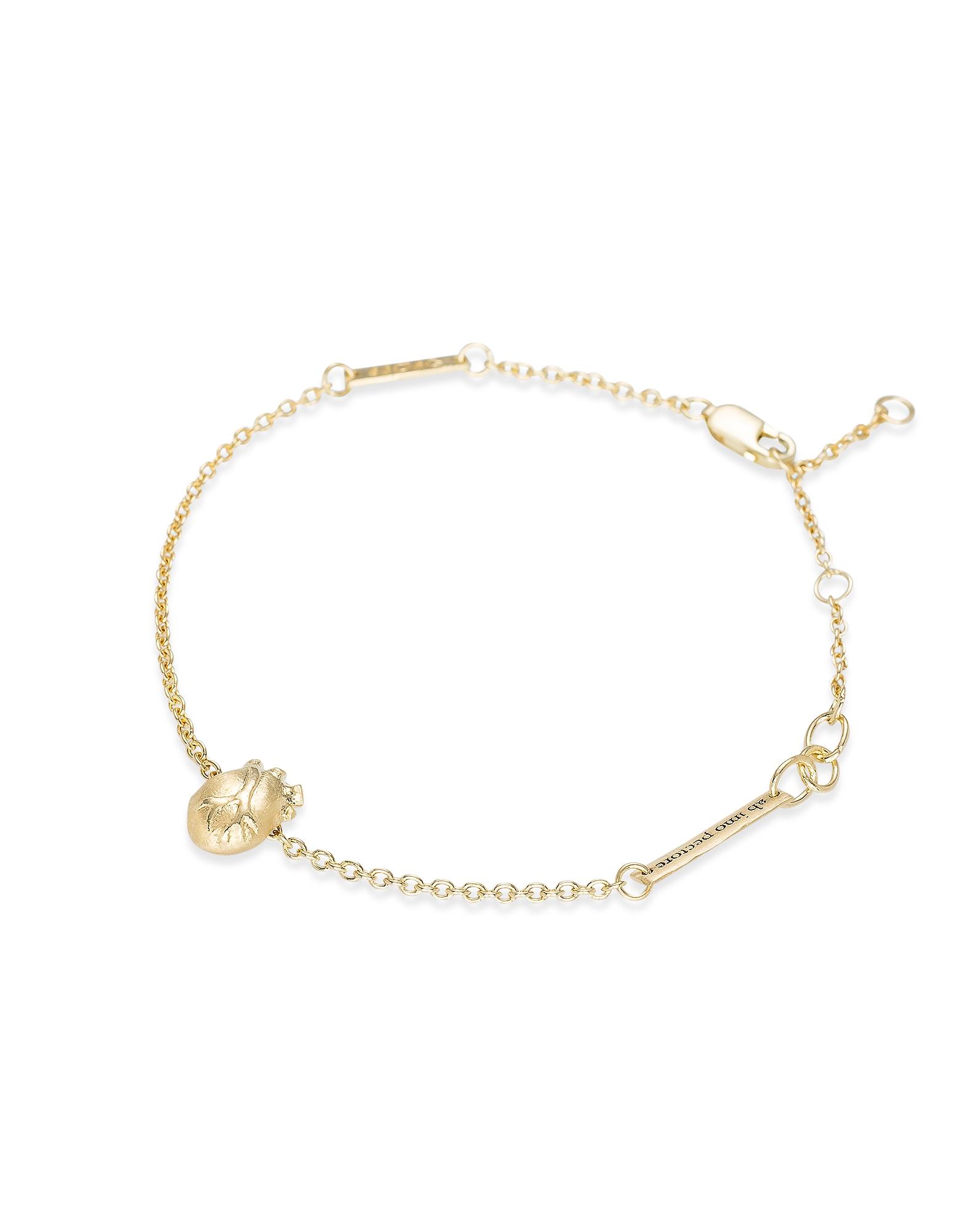 Small Gold Anatomic Heart Bracelet