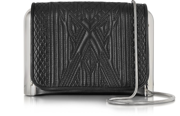 Black Quilted Leather Crossbody Bag - Jean Paul Gaultier