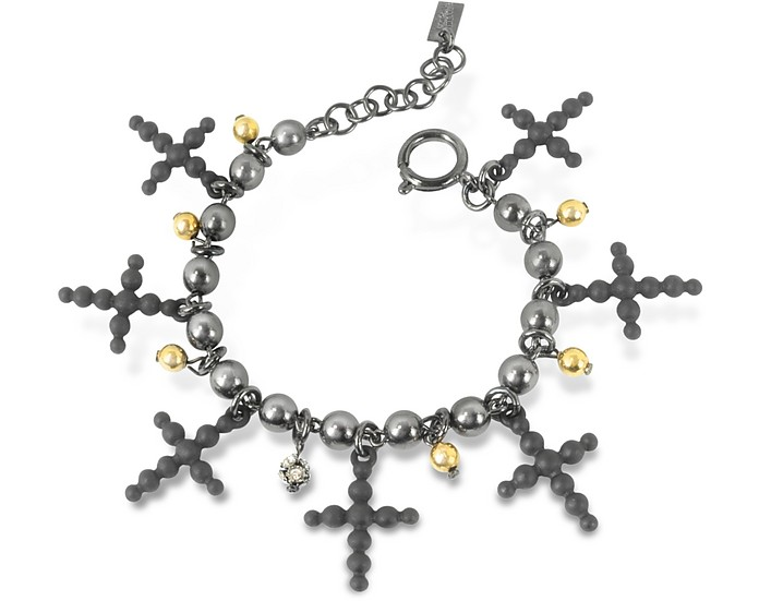 Beaded Cross Bracelet - Jean Paul Gaultier