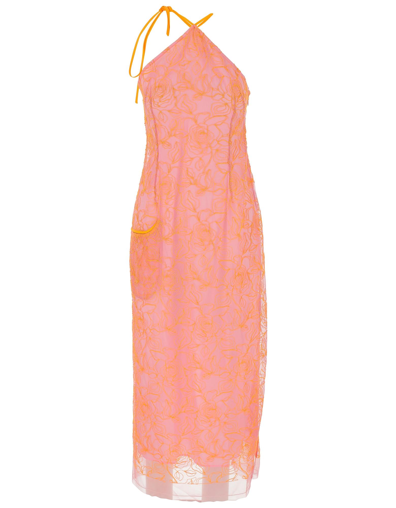 Jacquemus Designer Dresses & Jumpsuits, Pink Lace Women's Dress