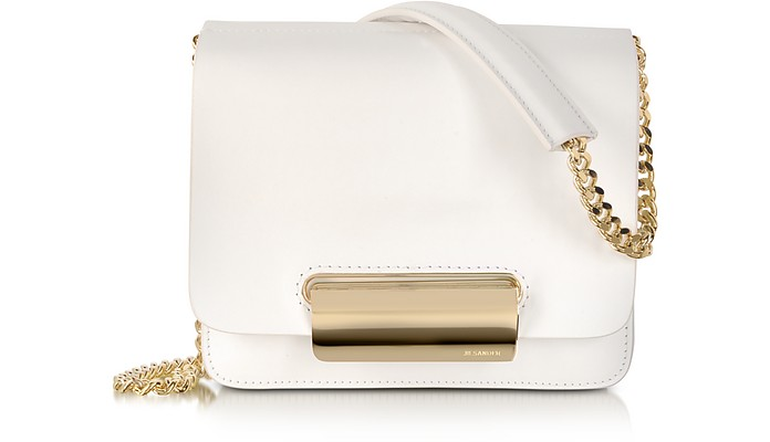 Boxy Knitted Leather Shoulder Bag - Jil Sander