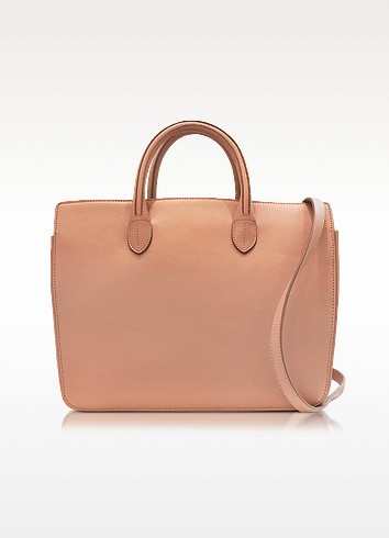 Open Pink Leather Small Handbag - Jil Sander