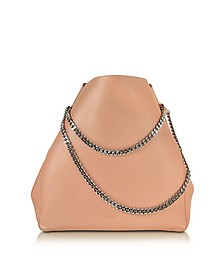 Open Pink Soft Leather Link Shopper - Jil Sander