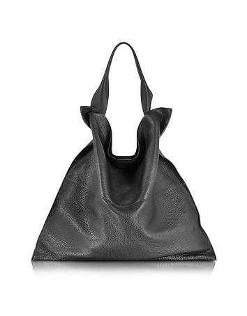 Xiao Black Leather Medium Tote