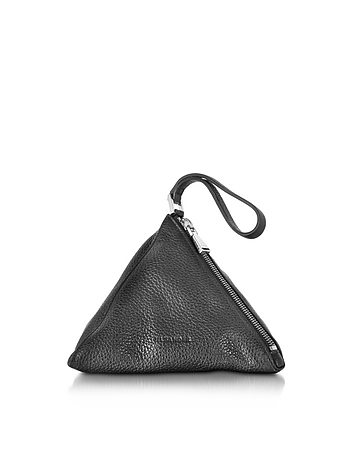 3Angle Black Leather Pouch