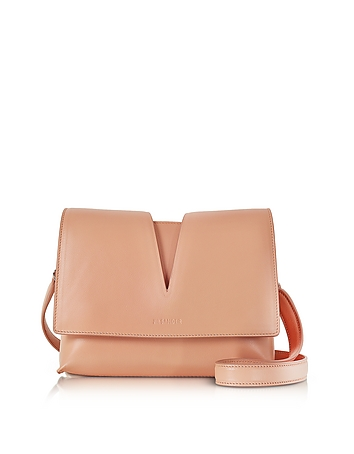 View Open Tan Soft Leather Small Shoulder Bag