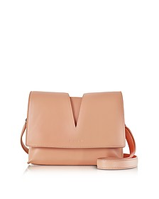 View Open Tan Soft Leather Small Shoulder Bag - Jil Sander